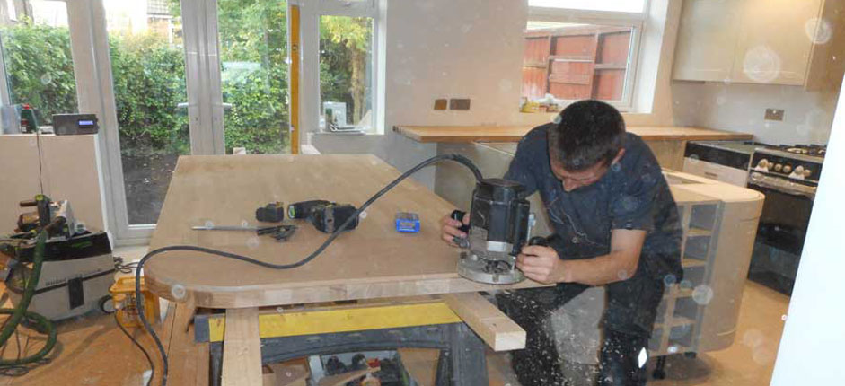 Oak worktop fitters Cheshire | Blink Building Services